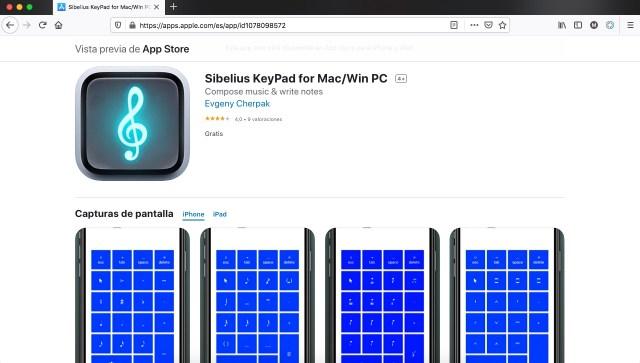 Sibelius KeyPad