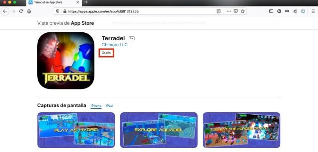 Terradel, juego de plataformas