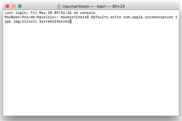 cambiar formato captura de pantalla macOS