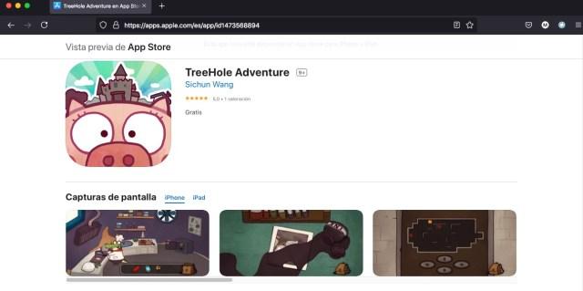 Apps y juegos gratis de aventura, TreeHole