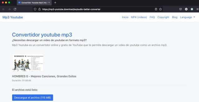 Descargar musica de YouTube Archivo listo