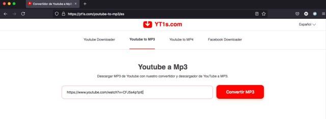 Descargar musica de YouTube yt1s.com