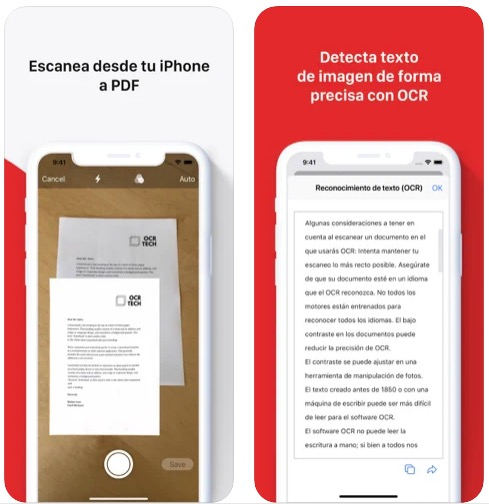 Escaner de documentos y reconocimiento de texto