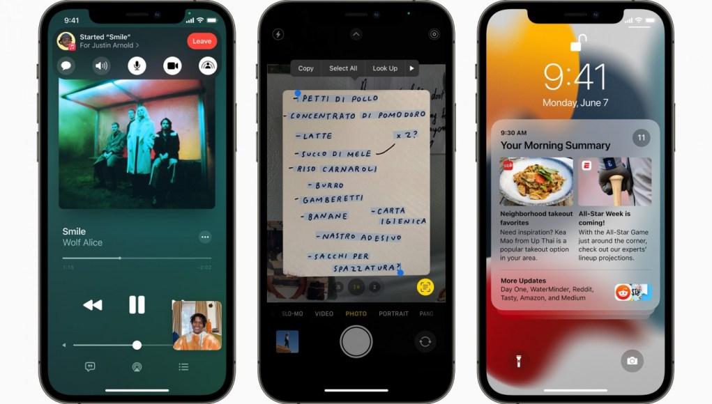 Novedades de iOS 15