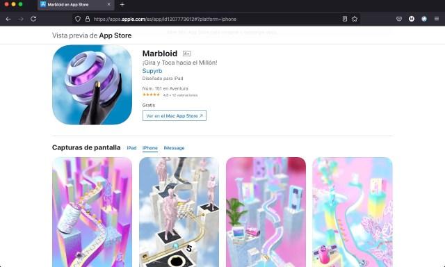 Apps y juegos gratis de habilidad, Marbloid
