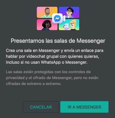 Condiciones de salas Messenger
