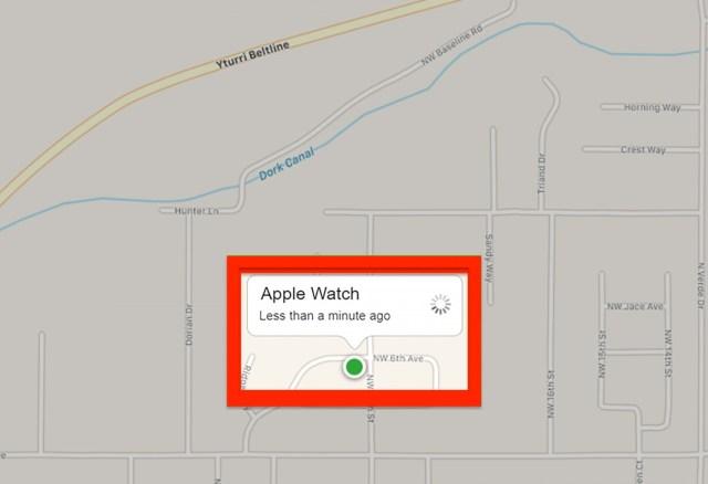 Encontrar un Apple Watch mapa