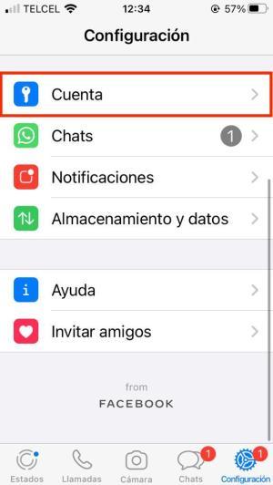 Funciones de cuenta en WhatsApp