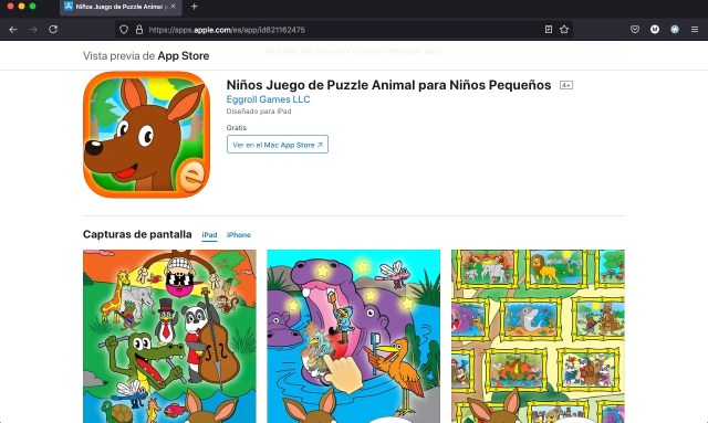 Puzzle Rompecabezas de animales