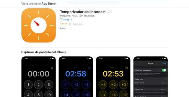 Apps y juegos gratis, temporizador de linterna