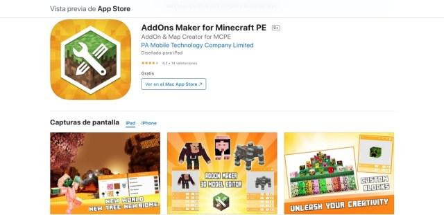 AddOns Maker Minecraft