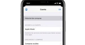 Historial de compras en iPhone 11 Pro