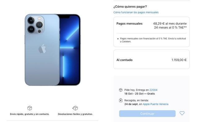 iPhone 13 reserva