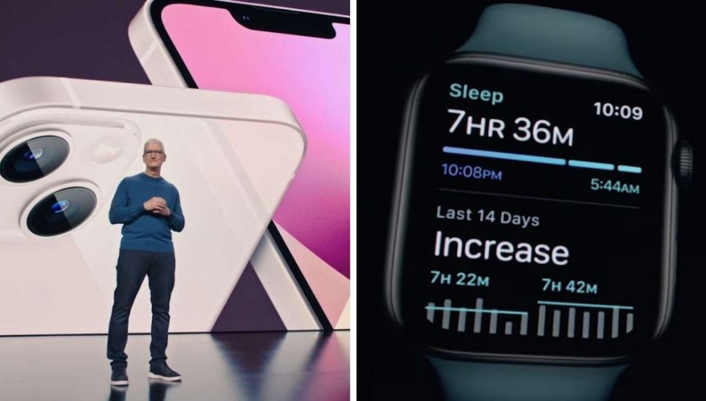 Tim Cook con el iPhone 13