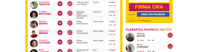 Elezioni Europee Rainbow