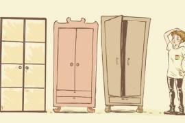 Si sta stretti in così tanti in un armadio...