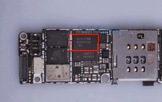 Billede af den nye chip lånt fra 9to5mac