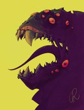 Alien; cartoon; monster; Iosua; Gerrit Rijken
