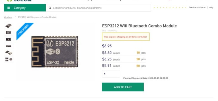 You can preorder ESP32 modules now!