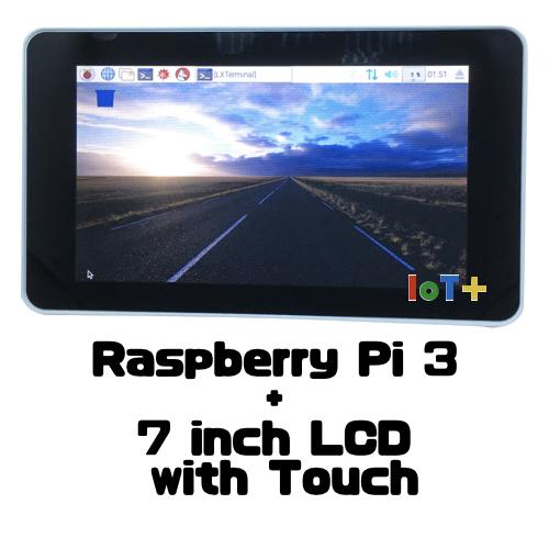 Raspberry Pi 3 と7インチタッチパネル付きディスプレイで小型情報パネルを作る!