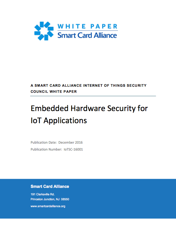 Embedded Hardware Security for IoT Applications