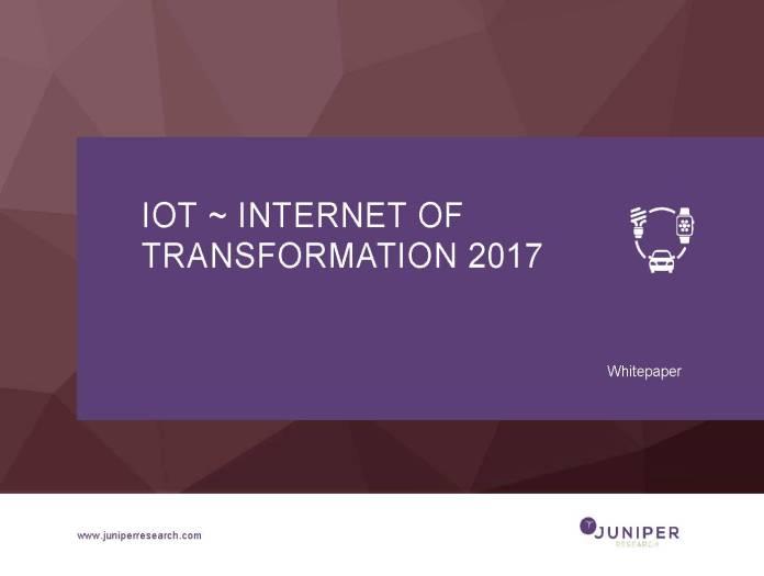Juniper iot internet of transformation