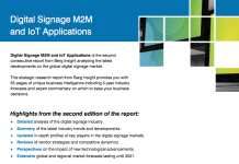 Digital Signage M2M and IoT Applications