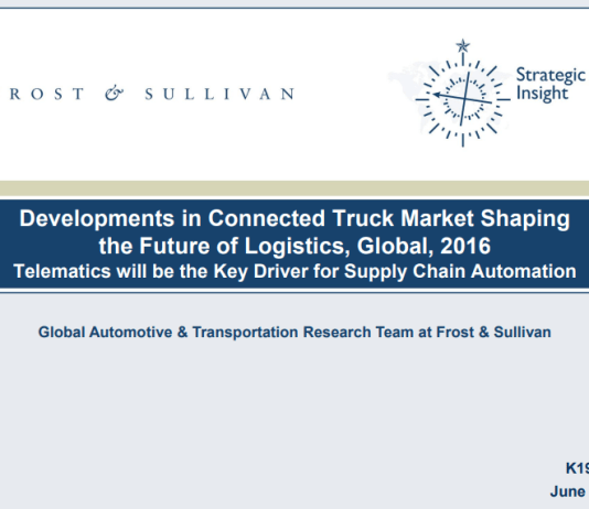 frost sullivan connected truck logistics