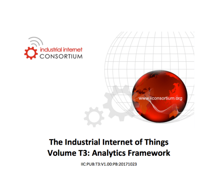 Industrial Internet Consortium Analytics Framework