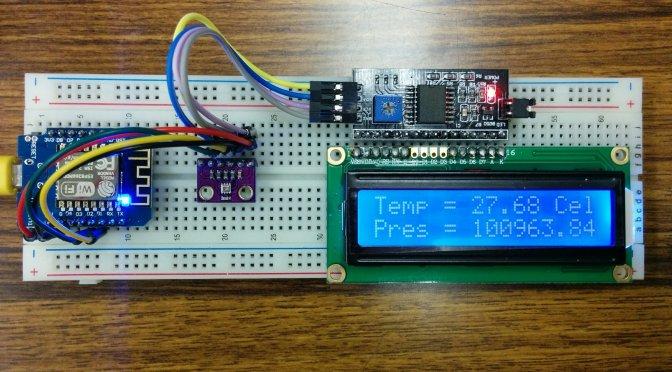 WeMos (b6) I2C (BMP280+1602 LCD)