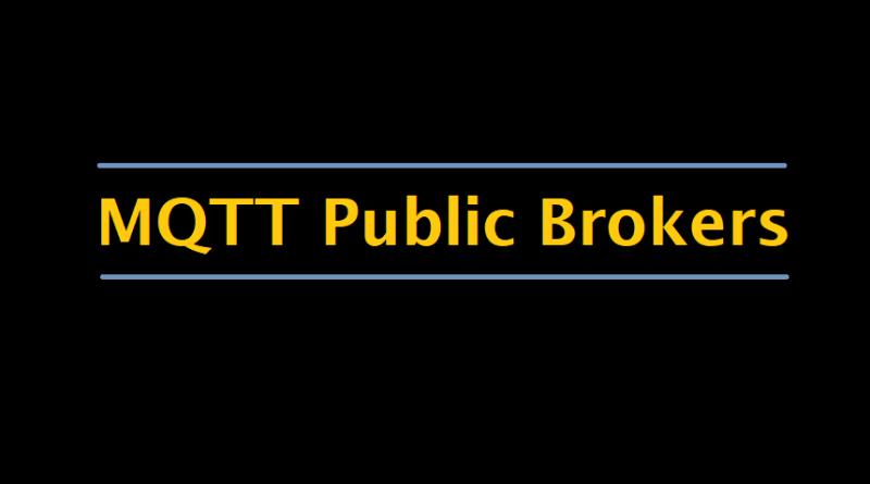 MQTT Public Brokers