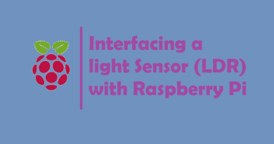 Interfacing a light Sensor (LDR) with Raspberry Pi
