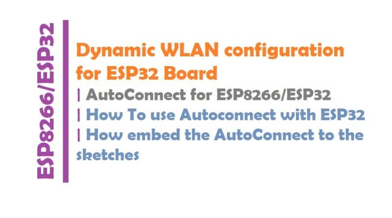 Dynamic WLAN configuration for ESP32