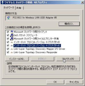 IPv4設定