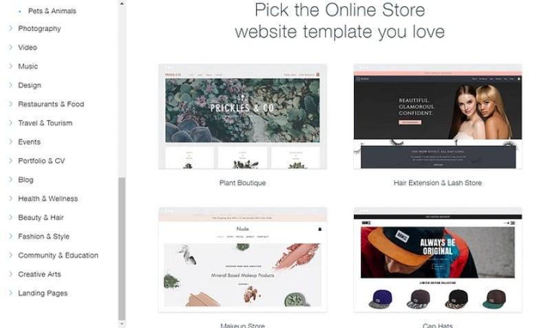 Modelli di eCommerce Wix