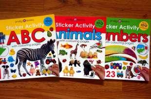 3本適合孩子的認知貼紙書 Sticker Activity ABC, Animals Numbers