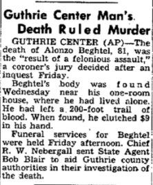 Courtesy The Gazette, Jan. 21, 1950