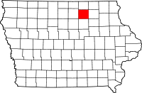 Floyd County in Iowa