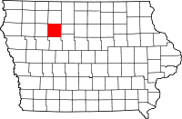 Pocahontas County in Iowa