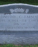 Timothy Earney headstone