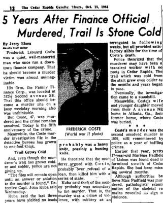 Courtesy Cedar Rapids Gazette, Oct. 15, 1964