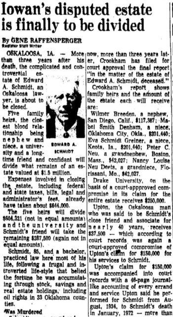 Register article on Edward Schmidt