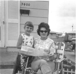 Lillian Randolph with granddaughter Elizabeth O'Hara