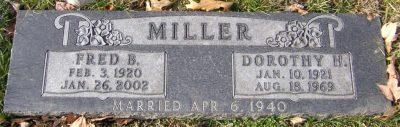 Dorothy Miller's gravestone