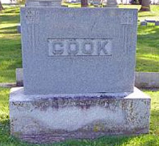 Myrtle Cook gravestone