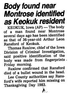 Courtesy Cedar Rapids Gazette, May 19, 1984