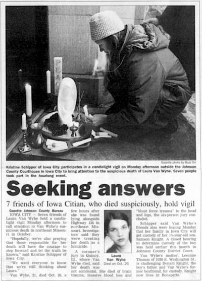 Gazette article Dec 24, 1996