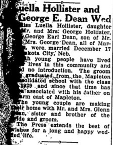 George Dean weds