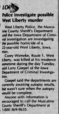 Courtesy The Daily Iowan, Oct. 15, 1992
