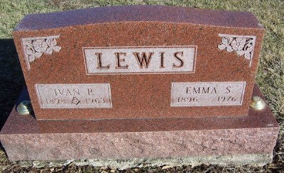 Emma Lewis gravestone